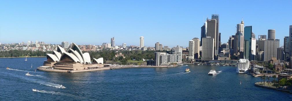 Das Opernhaus in Sydney, das berühmteste Gebäude Australiens