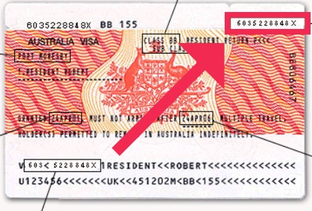 Visa Label Number finden