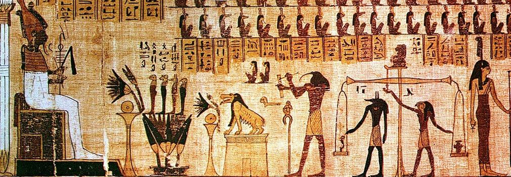 Egyptische Hiërogliefen, het Egyptische schift uit de oudheid