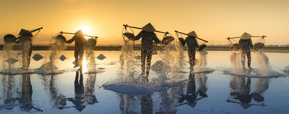 Salzgewinnung in Vietnam